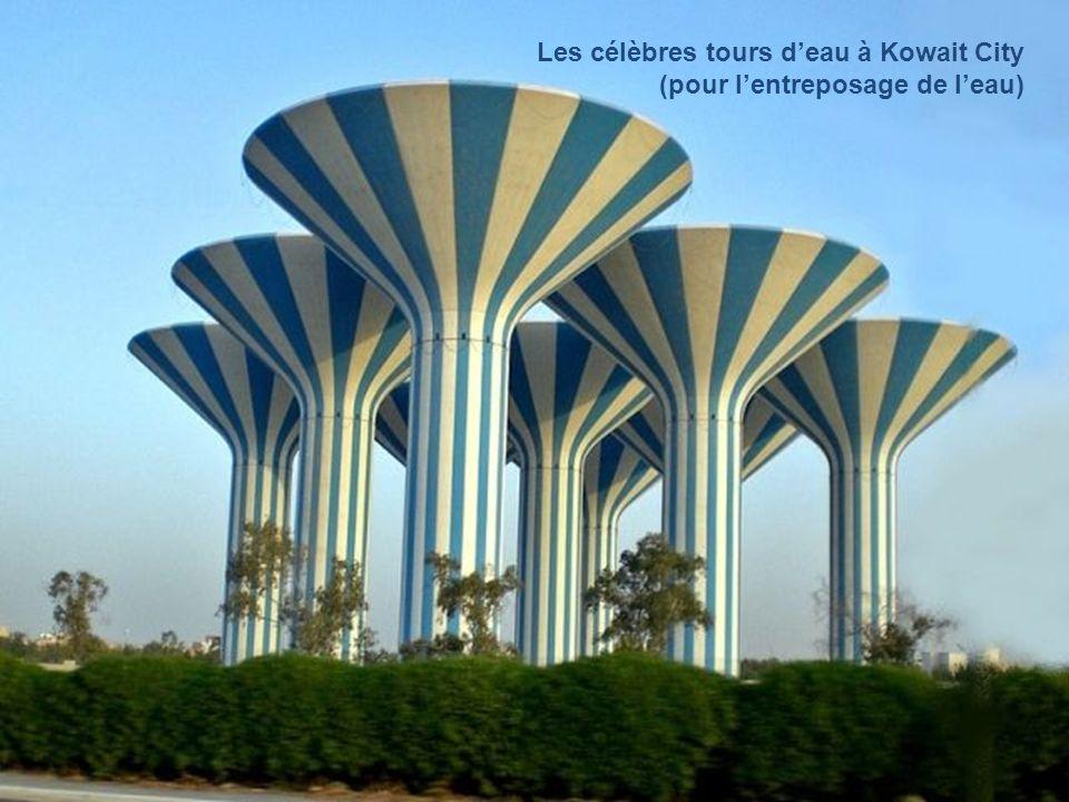 Les célèbres tours d'eau à Kowait City