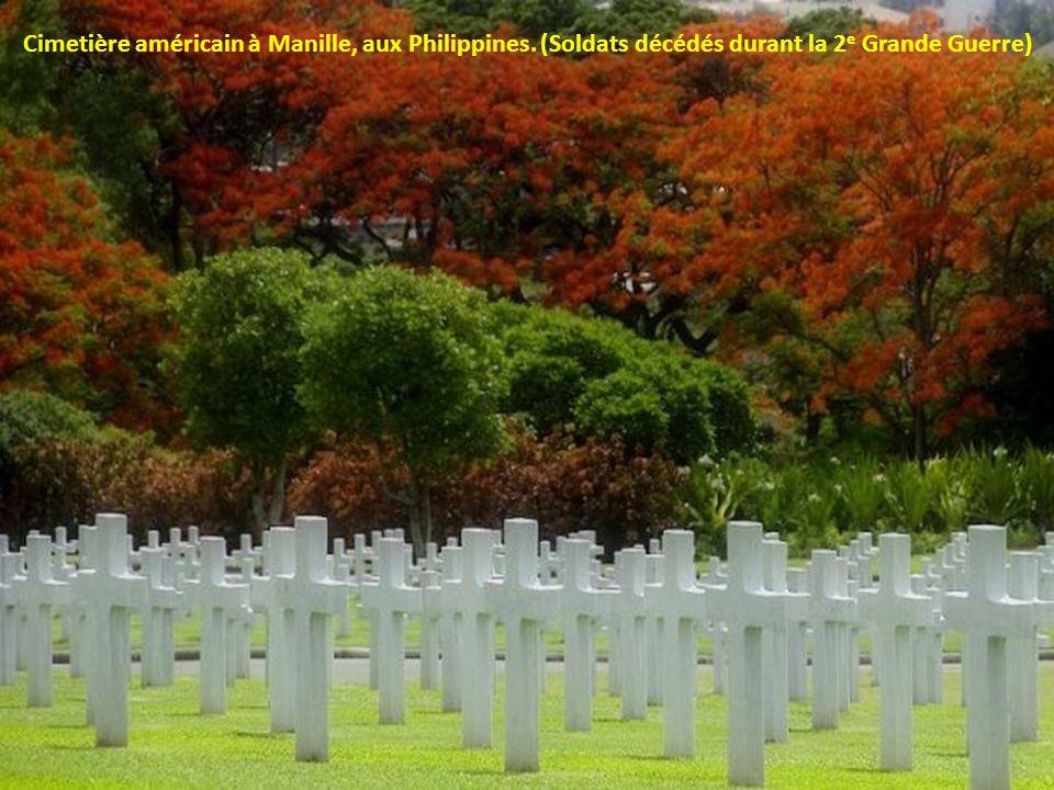 Cimetière américain à Manille, aux Philippines