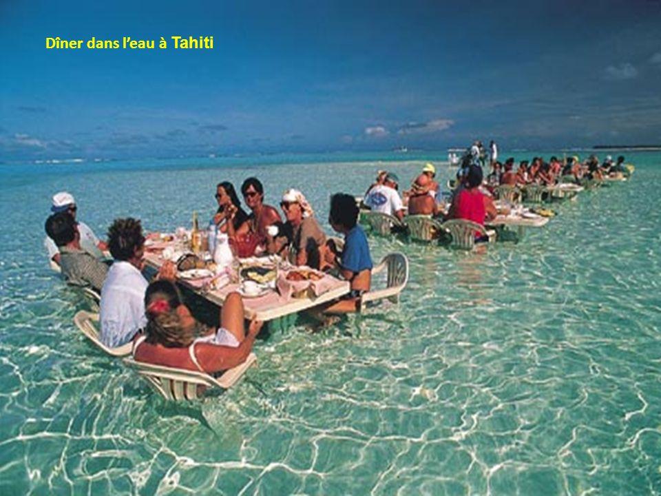 Dîner dans l'eau à Tahiti