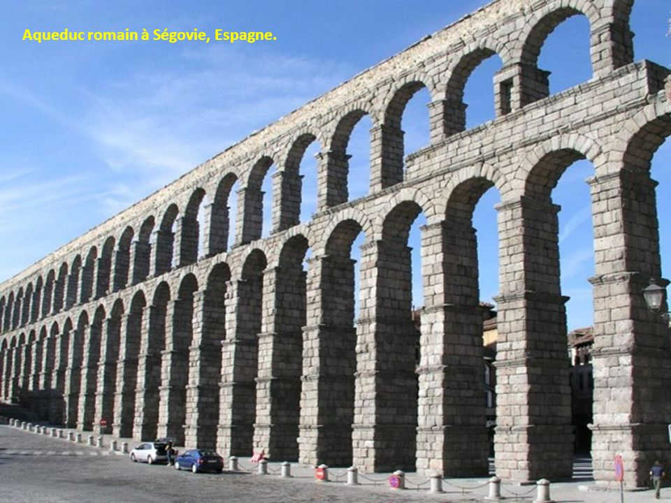 Aqueduc romain à Ségovie, Espagne.