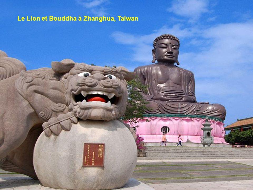 Le Lion et Bouddha à Zhanghua, Taiwan