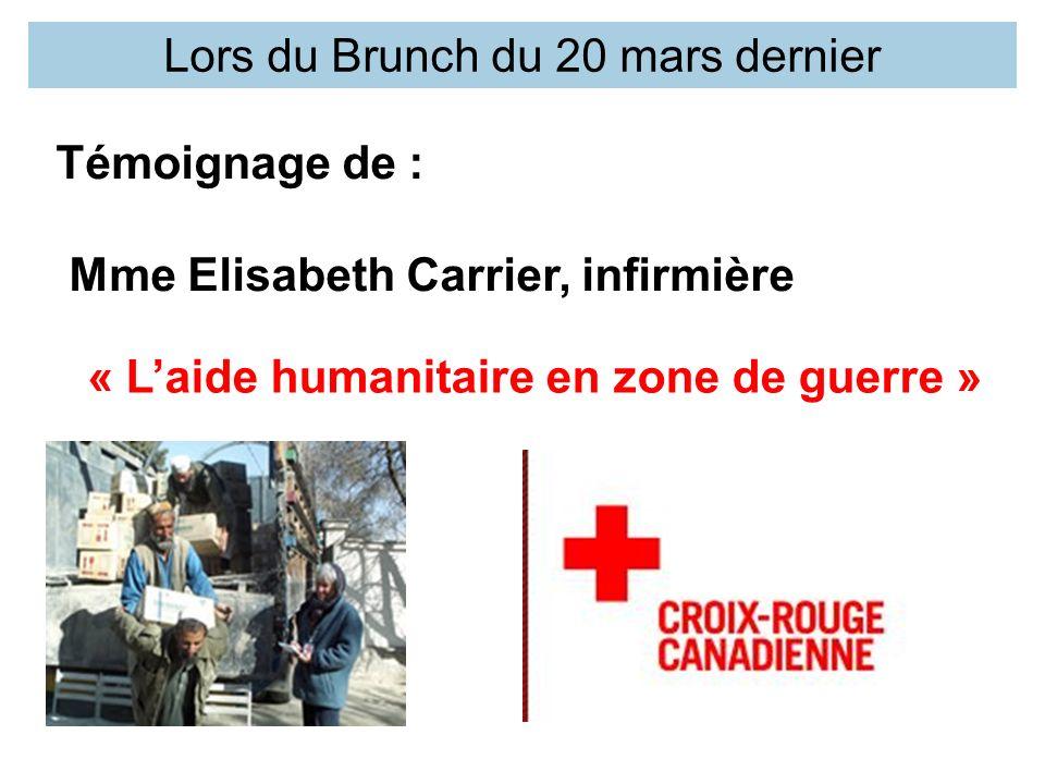 « L'aide humanitaire en zone de guerre »