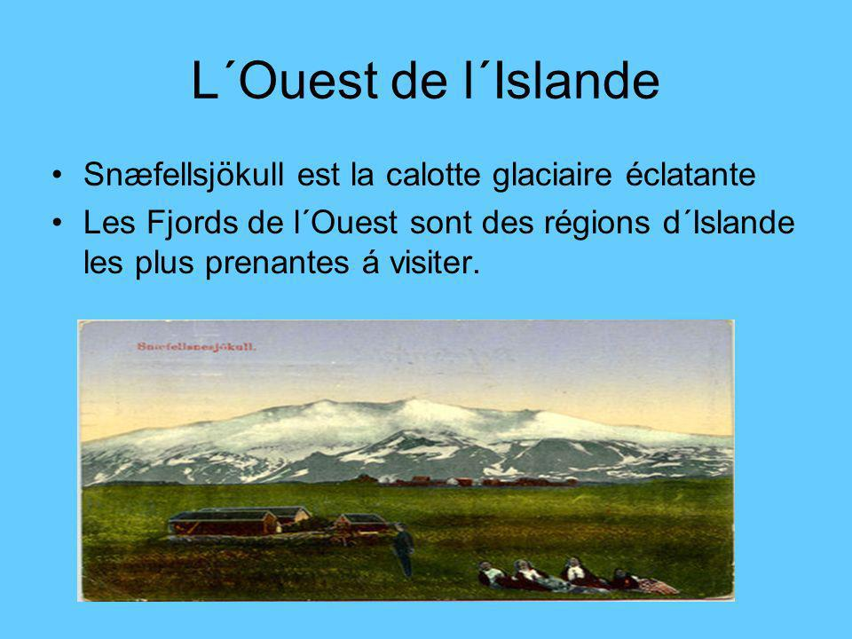 L´Ouest de l´Islande Snæfellsjökull est la calotte glaciaire éclatante