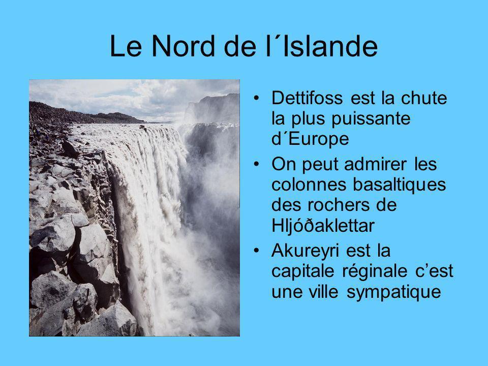 Le Nord de l´Islande Dettifoss est la chute la plus puissante d´Europe