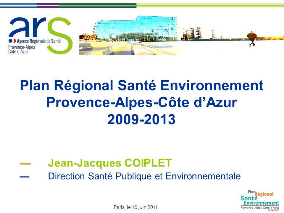 Plan Régional Santé Environnement Provence-Alpes-Côte d'Azur