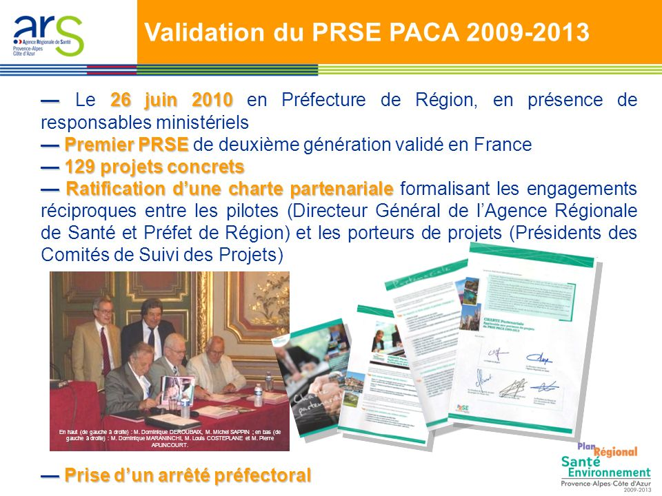 Validation du PRSE PACA 2009-2013