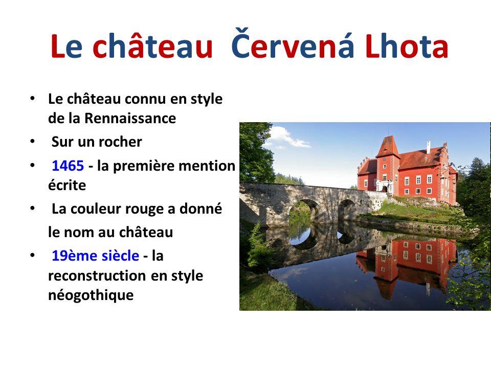 Le château Červená Lhota