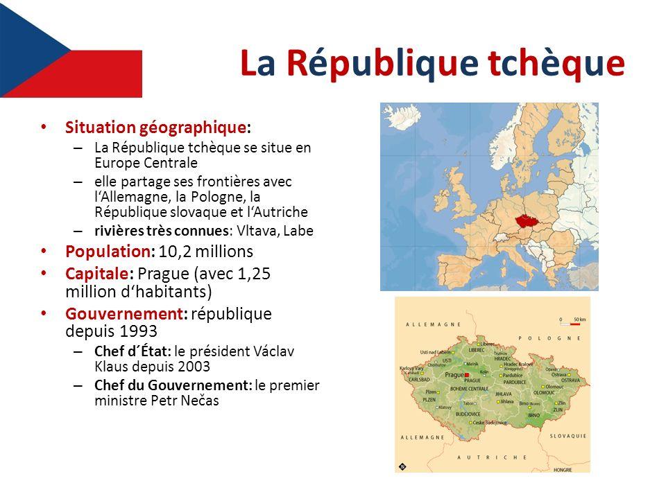 La République tchèque Situation géographique:
