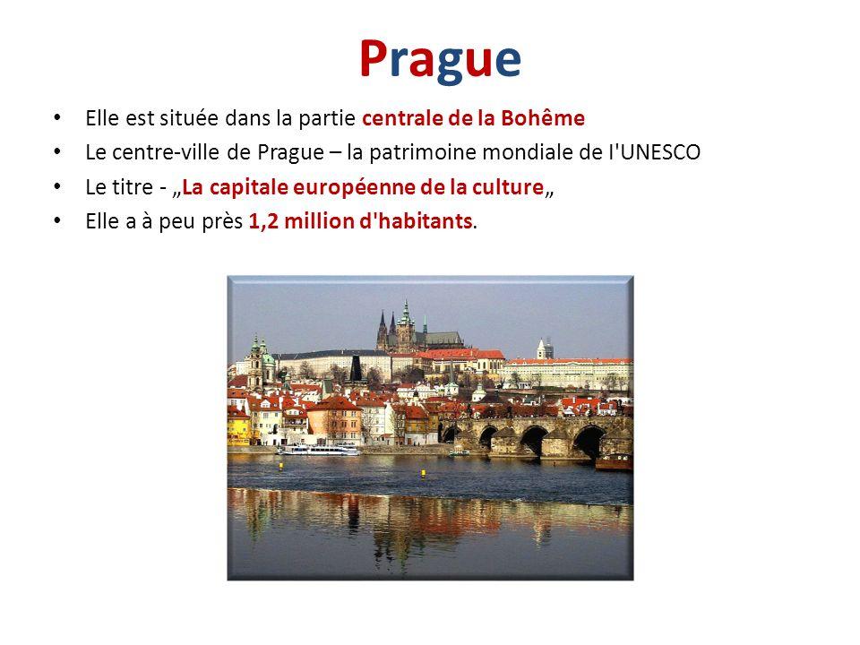 Prague Elle est située dans la partie centrale de la Bohême
