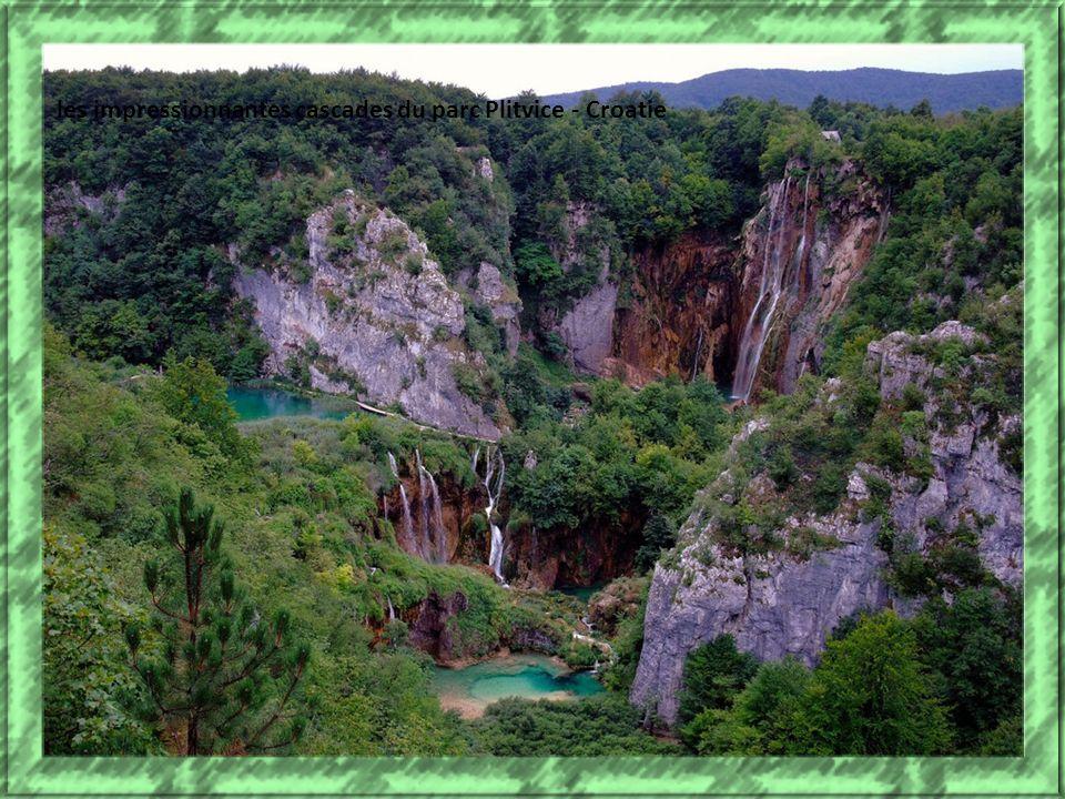 les impressionnantes cascades du parc Plitvice - Croatie