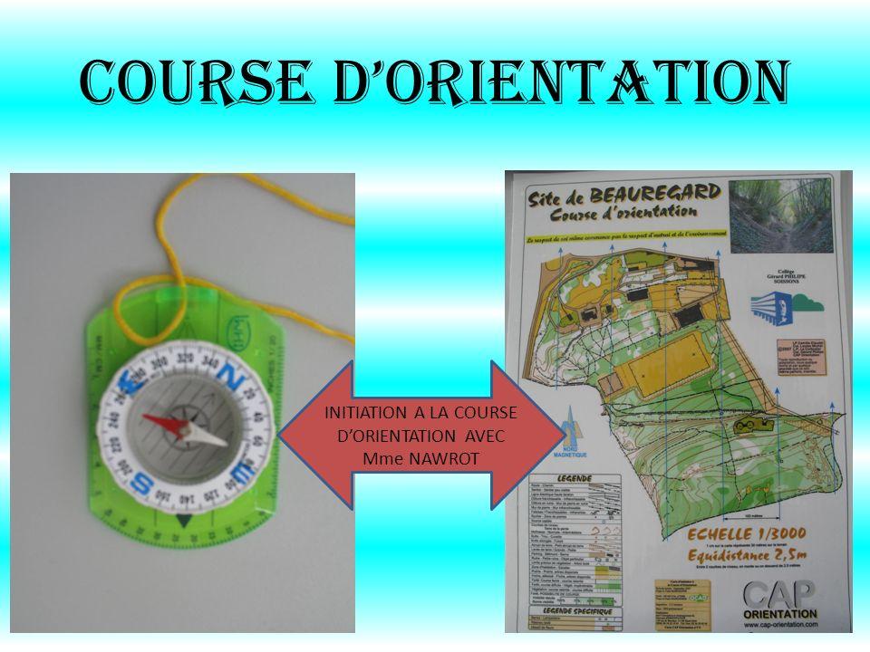 INITIATION A LA COURSE D'ORIENTATION AVEC Mme NAWROT