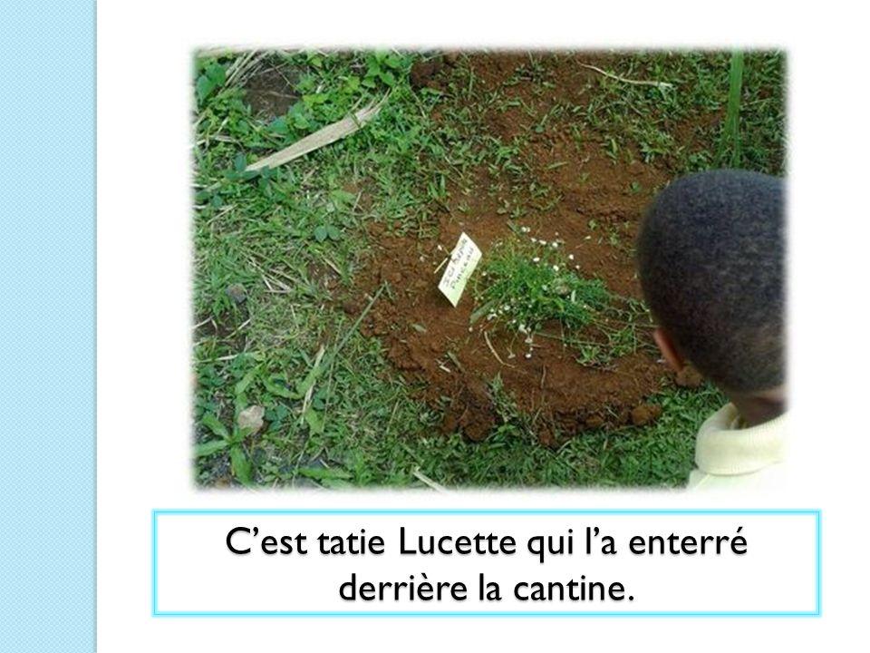 C'est tatie Lucette qui l'a enterré derrière la cantine.