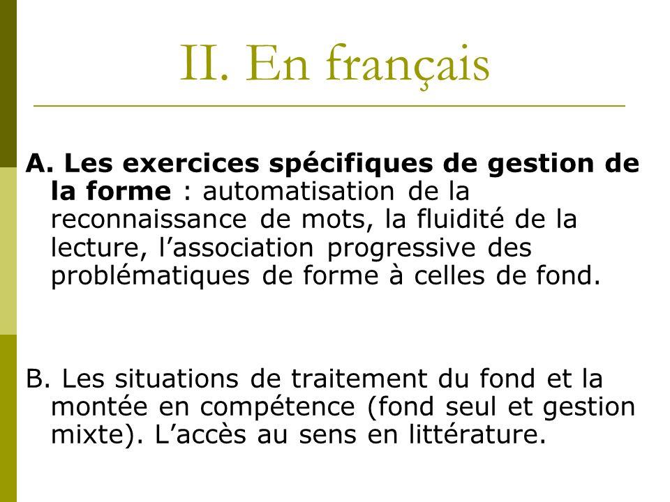 II. En français
