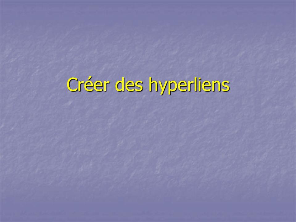 Créer des hyperliens