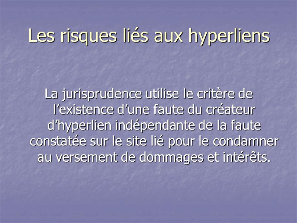 Les risques liés aux hyperliens