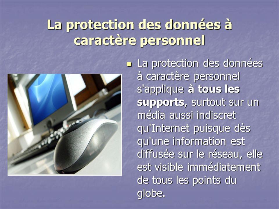 La protection des données à caractère personnel