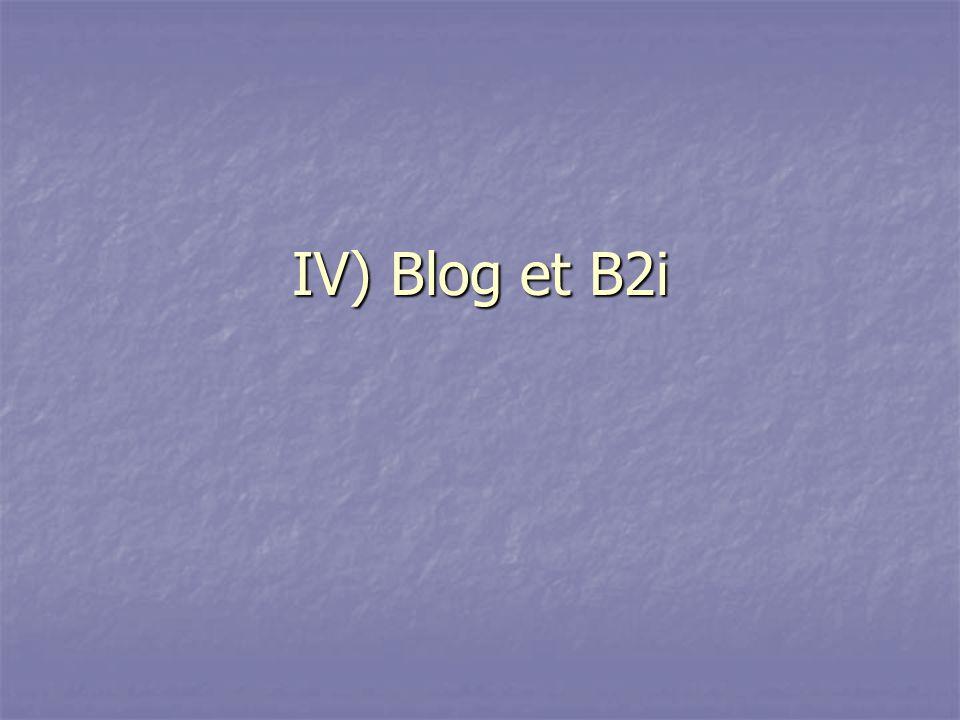 IV) Blog et B2i