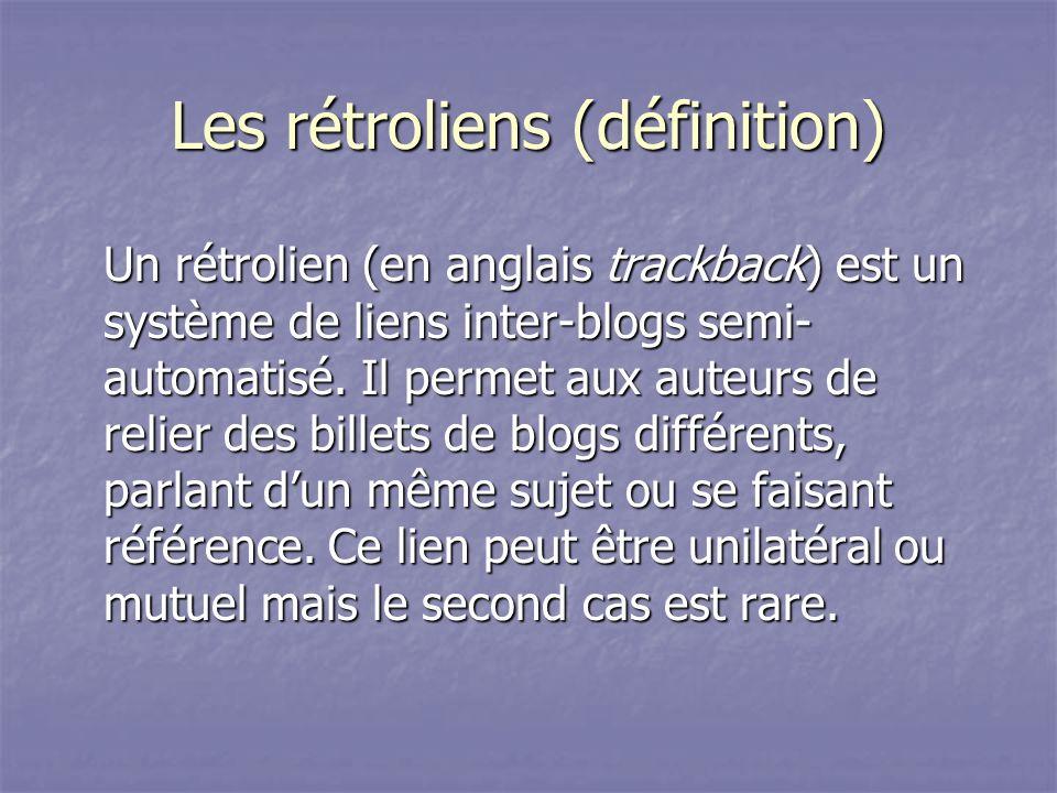 Les rétroliens (définition)