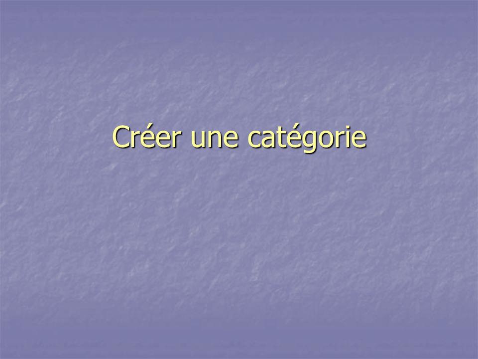 Créer une catégorie