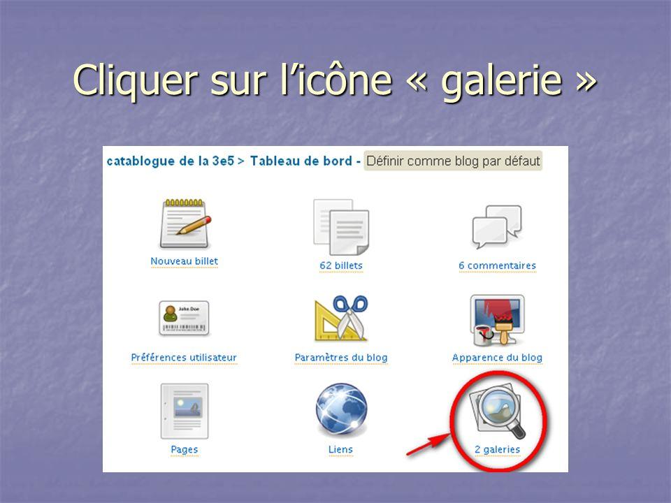Cliquer sur l'icône « galerie »
