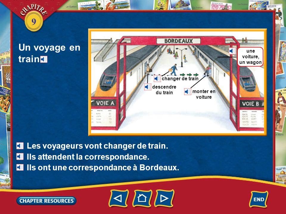 Un voyage en train Les voyageurs vont changer de train.