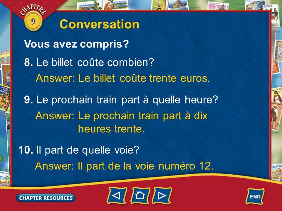 Conversation Vous avez compris 8. Le billet coûte combien