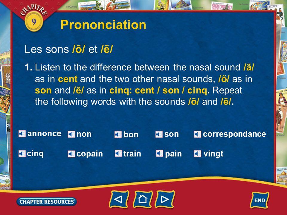 Prononciation Les sons /õ/ et /ẽ/