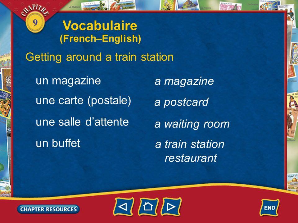 Vocabulaire Getting around a train station un magazine a magazine