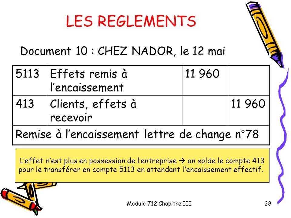 LES REGLEMENTS Document 10 : CHEZ NADOR, le 12 mai 5113