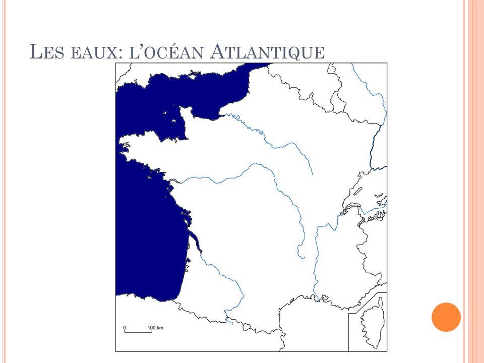 Les eaux: l'océan Atlantique