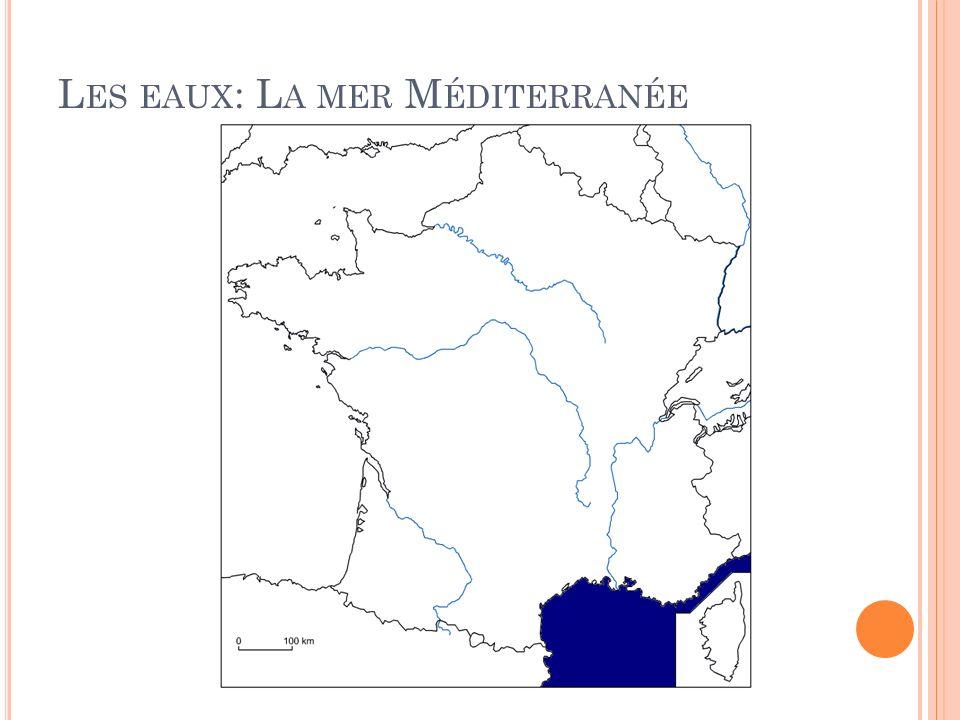 Les eaux: La mer Méditerranée