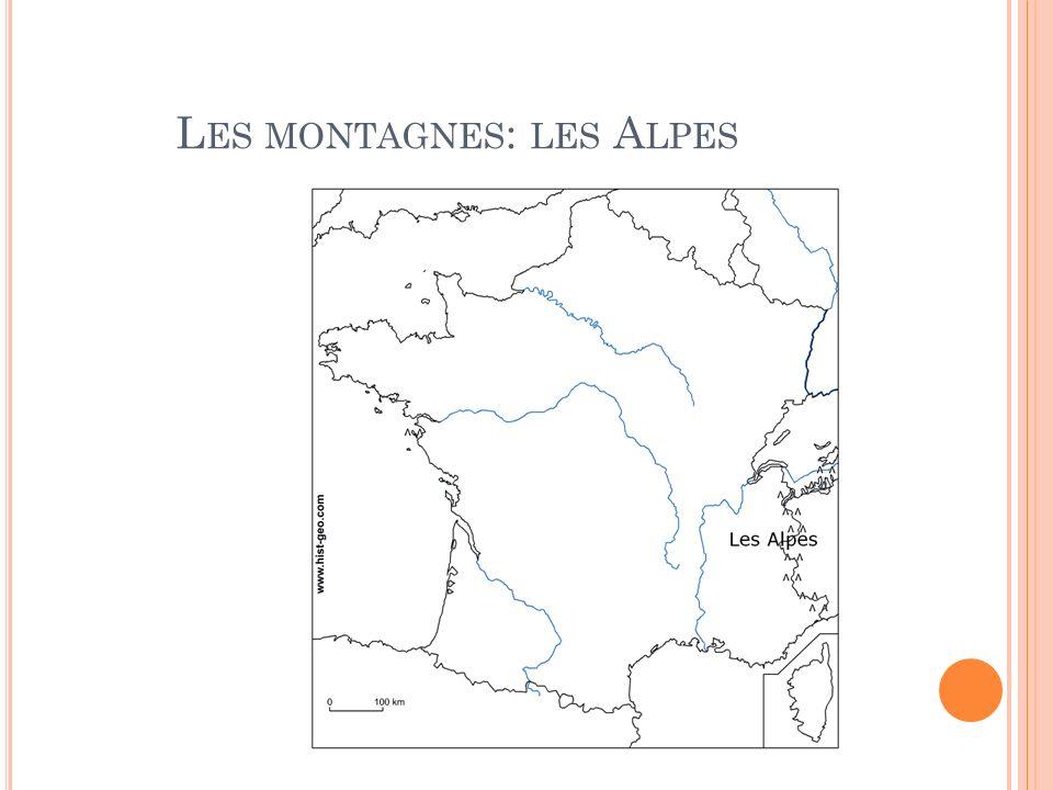 Les montagnes: les Alpes