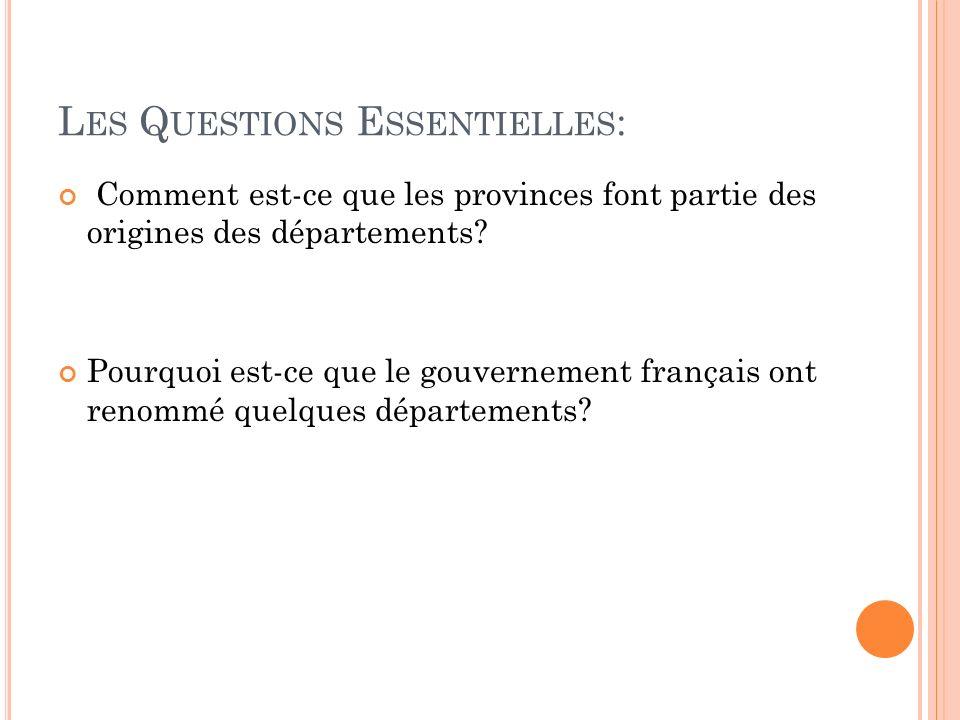 Les Questions Essentielles:
