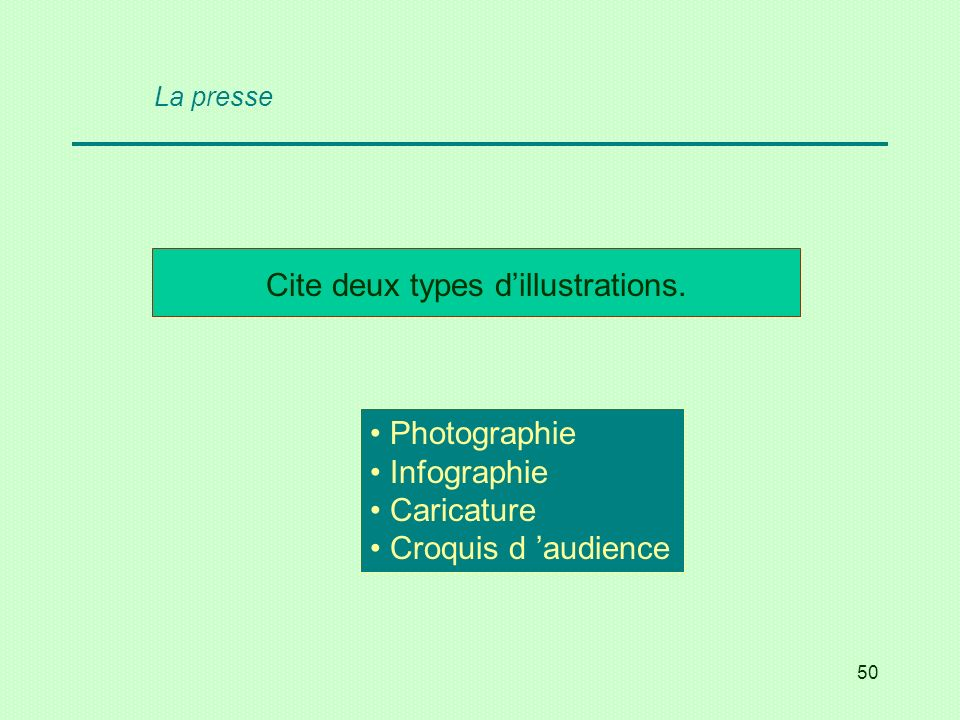 Cite deux types d'illustrations.