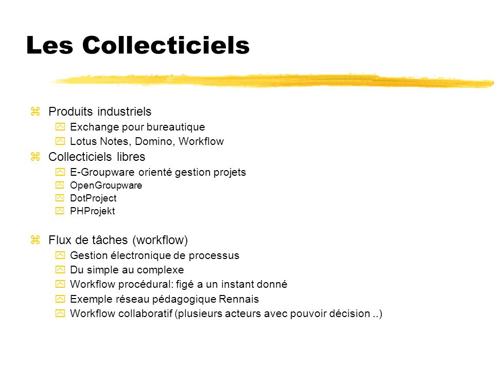 Les Collecticiels Produits industriels Collecticiels libres