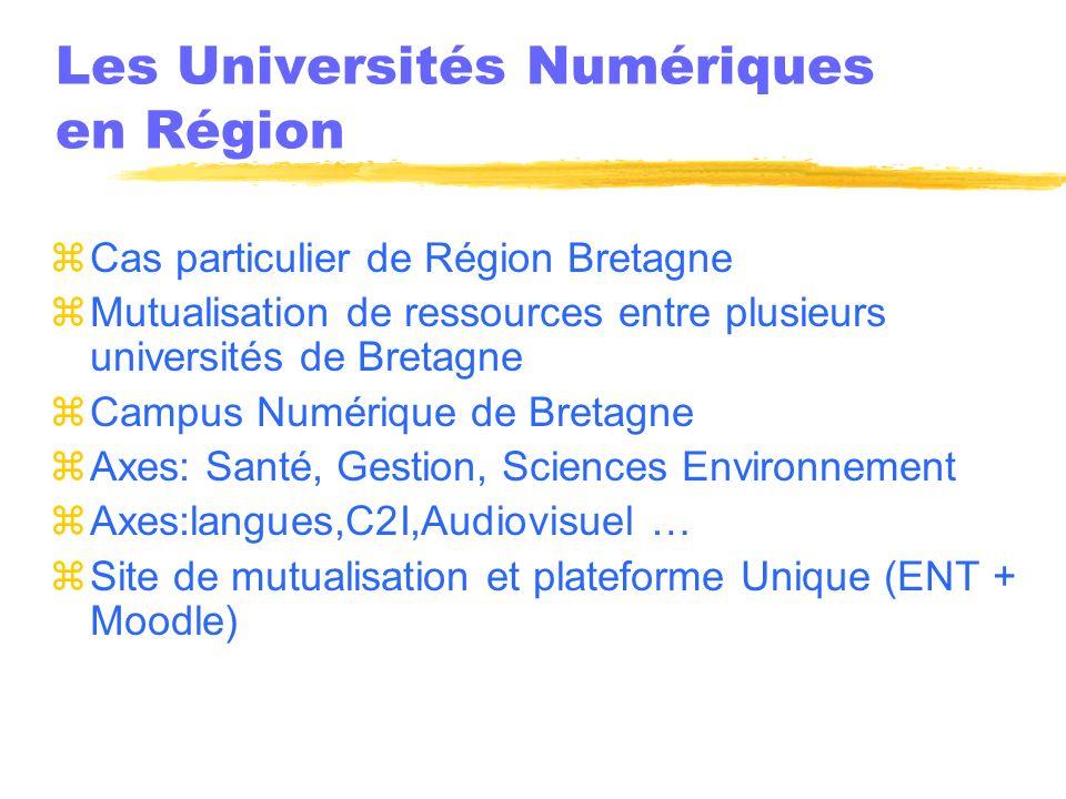 Les Universités Numériques en Région