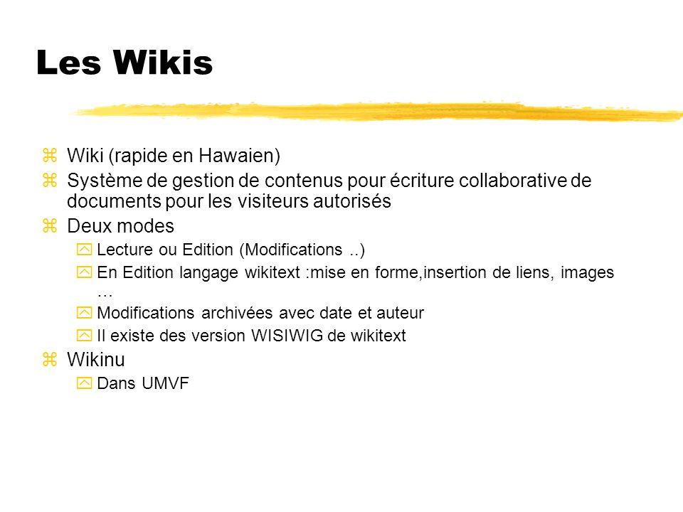 Les Wikis Wiki (rapide en Hawaien)