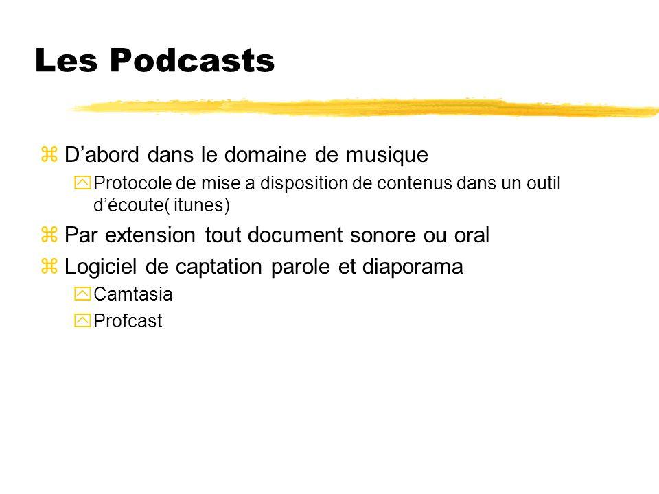 Les Podcasts D'abord dans le domaine de musique