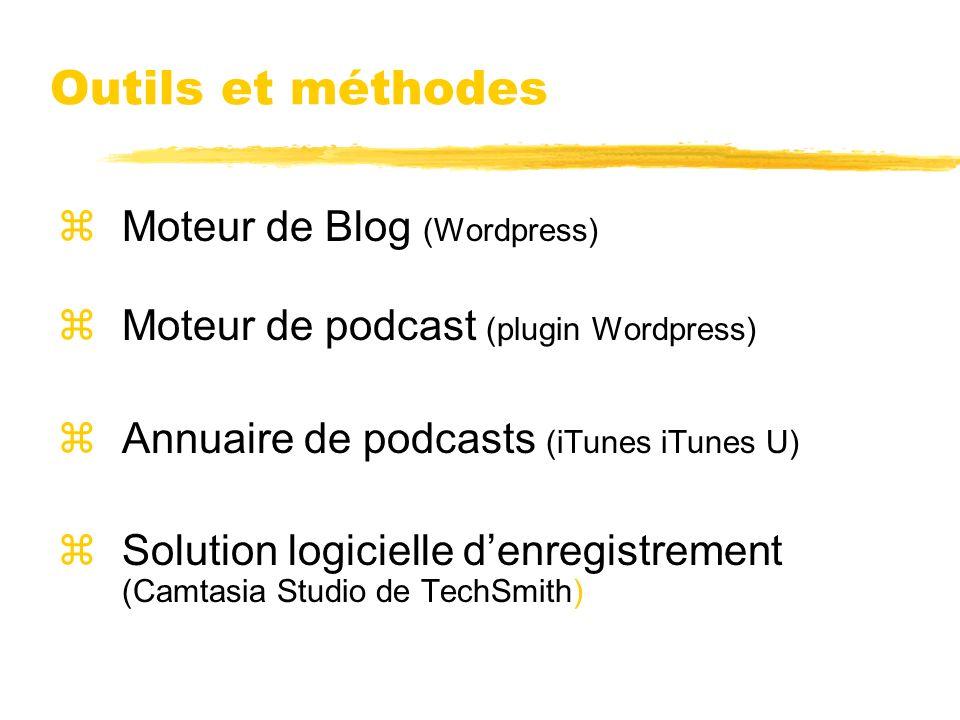 Outils et méthodes Moteur de Blog (Wordpress)