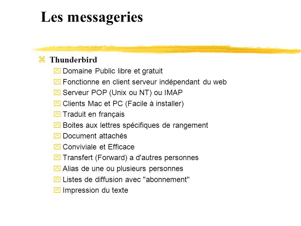 Les messageries Thunderbird Domaine Public libre et gratuit