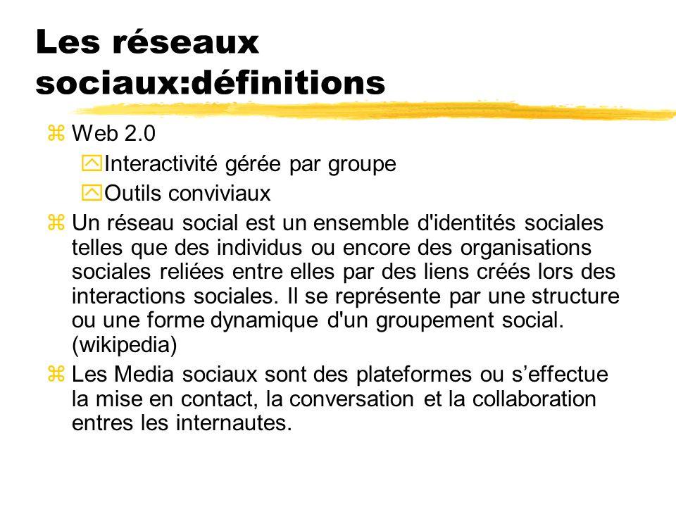 Les réseaux sociaux:définitions