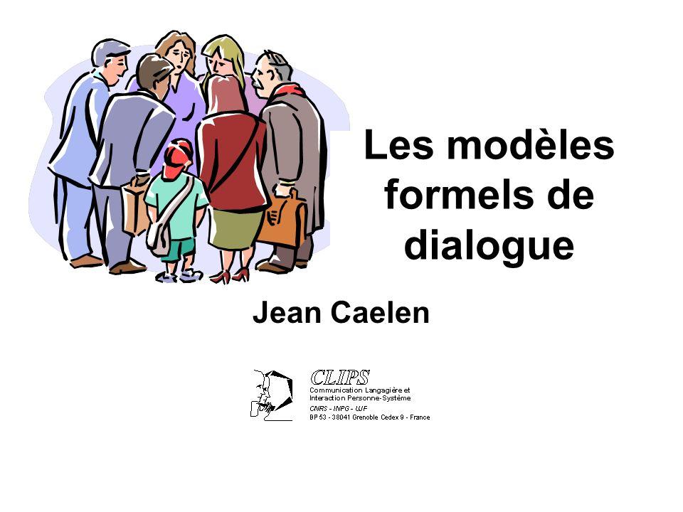 Les modèles formels de dialogue