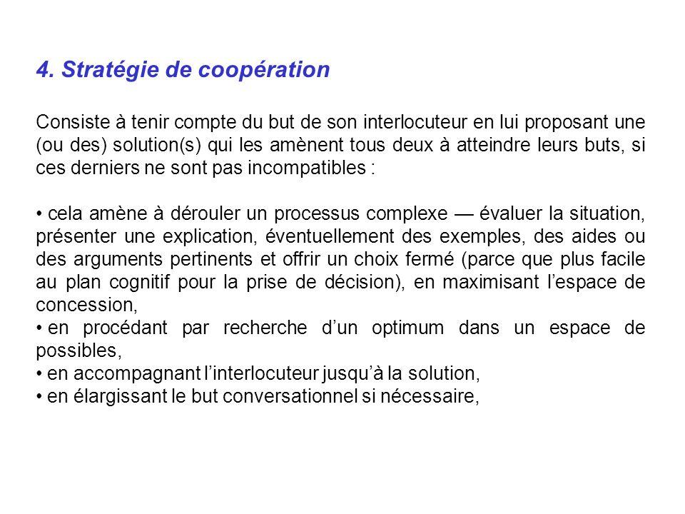 4. Stratégie de coopération