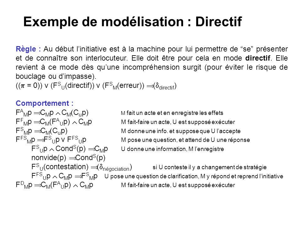 Exemple de modélisation : Directif
