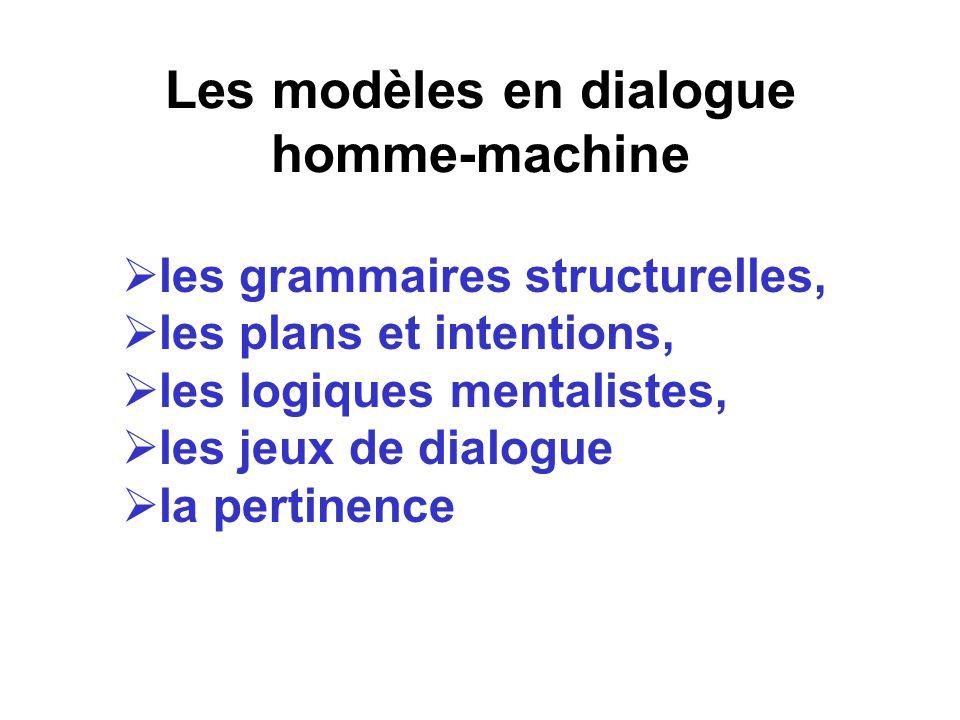 Les modèles en dialogue homme-machine