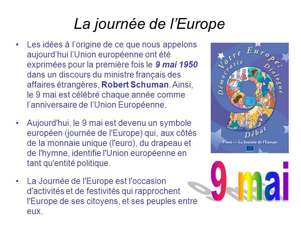 La journée de l'Europe 9 mai