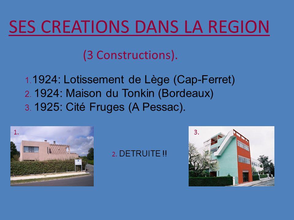 SES CREATIONS DANS LA REGION