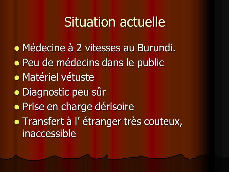 Situation actuelle Médecine à 2 vitesses au Burundi.