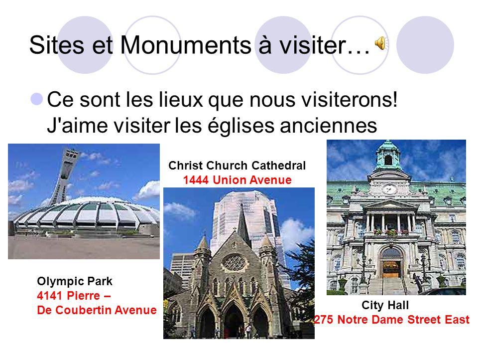 Sites et Monuments à visiter…