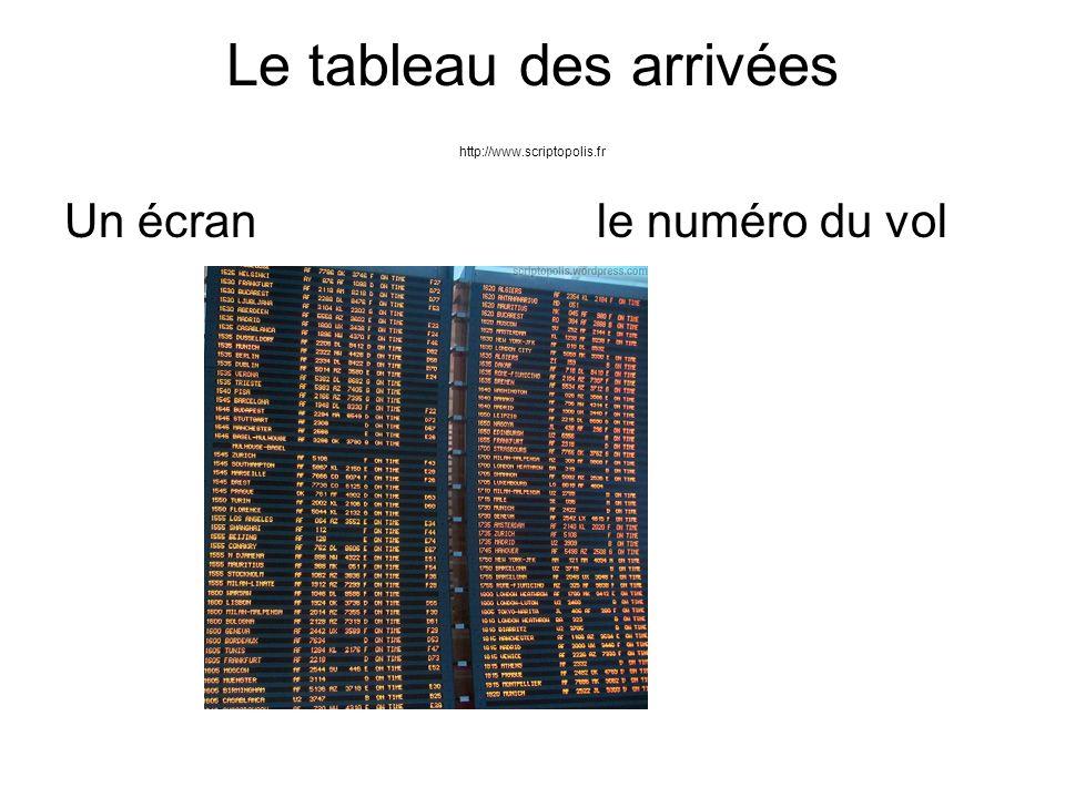 Le tableau des arrivées http://www.scriptopolis.fr